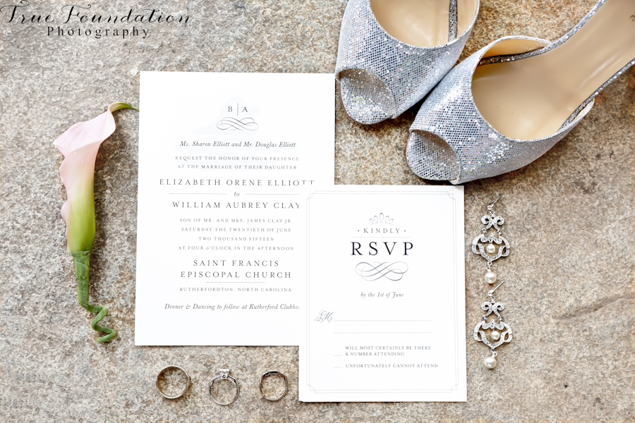 Hendersonville-North-Carolina-Wedding-Photography-Invitation-suite-Kate-Spade-Bride-Shoes-Bridal-Style