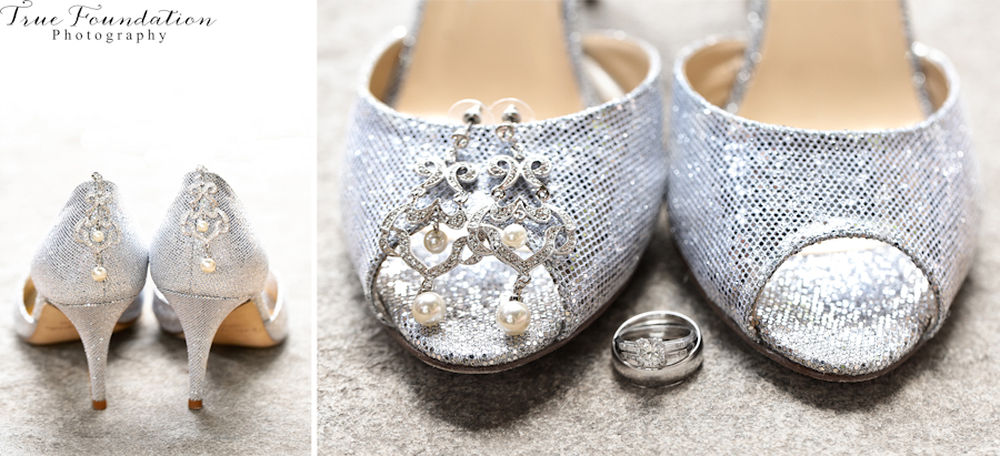 Hendersonville-North-Carolina-Wedding-Photography-Kate-Spade-Bride-Shoes-Bridal-Style-Classy-Chic-Silver-Sparkle-Event-Prep-Detail-Shot