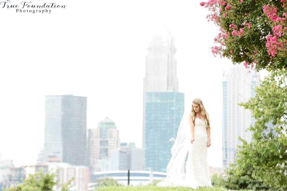 Charlotte - North - Carolina - Wedding - Photography - Bridal - Portrait - City - Skyline - NC - Photographers - Park - Bride (20)-1